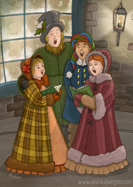 Wassail! Wassail! A Christmas Caroling Card