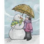 Girl and Snowman